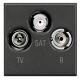 BTICINO AXOLUTE PRESA TV COASSIALE ANTRACITE HS4210D HS4210D-NO Bticino Frutti Axolute Antracide 55,40 €