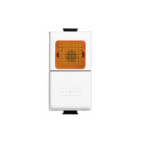 BTICINO MATIX PULSANTE 1P (NO) 10A 250VAC CON PORTALAMPADA PER LED E DIFFUSORE ARANCIO AM5057A AM5057A-NO Bticino Frutti Mati...