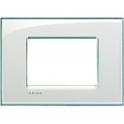 BTICINO - LIVINGLIGHT PLACCA QUADRA 3 MODULI ACQUAMARINA LNA4803KA