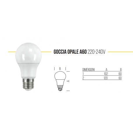 LAMPADINA LED 220 - 240V GOCCIA OPALE 2700K E27 14,5 WATT 1921LM