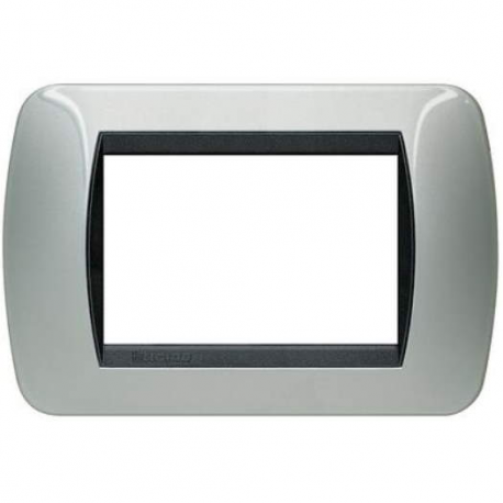 BTICINO - LIVINGLIGHT PLACCA INTERNATIONAL 3 MODULI ALLUMINIO L4803AL L4803AL Bticino LivingLight Placche International 12,43 €