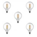 5 LAMPADINE 220 - 240V GLOBO 125 LED STICK 2700K E27 11 WATT 1521 LM