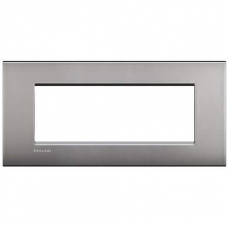 BTICINO - LIVINGLIGHT PLACCA AIR 7 MODULI NICHEL SATINATO LNC4807NK LNC4807NK Bticino LivingLight Placche Air 31,82 €