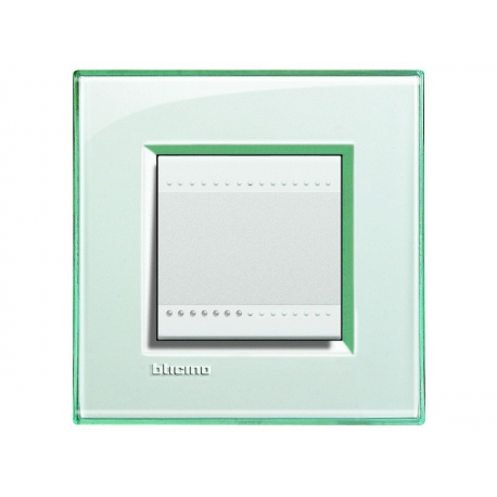 BTICINO - LIVINGLIGHT PLACCA QUADRA 2 MODULI ACQUAMARINA LNA4802KA LNA4802KA-NO Bticino LivingLight Placche Quadre 5,86 €