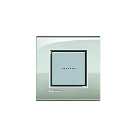 BTICINO - LIVINGLIGHT PLACCA QUADRA 2 MODULI ARGENTO LUNARE LNA4802GL LNA4802GL Bticino LivingLight Placche Quadre 9,22 €