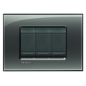 BTICINO - LIVINGLIGHT PLACCA QUADRA 3 MODULI FUMO DI LONDRA LNA4803KF